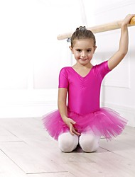 Ballet Tops Dresses&Skirts Dresses Tutus Women's Children's Spandex Tulle Short Sleeve
