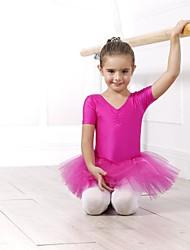 Danse classique Hauts Robes et Jupes Tutu Robes Femme Enfant Elasthanne Tulle Manche courte