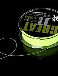 medidor de carretel de nylon peixe verde linha de pesca isca de 0,3 milímetros (16 £ 8,4 kg 150m verde)