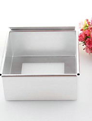 Aluminum Alloy Square Bottom 6 Inch Cake Mold