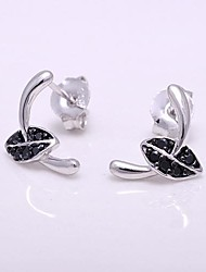 AS 925 Silver Jewelry Black and white color plating  Earrings
