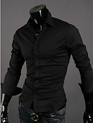 Kuxing вскользь длинным рукавом Основные рубашка (черный)