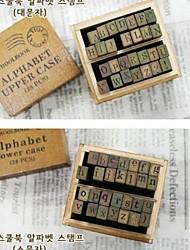 2BOX 56pcs верхний регистр&строчная буква штамп скрапбукинга марки