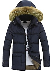Men's High-quality Fur Collar Down Jacket