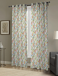 Cartoon Country Minimalist Style Curtain (Two Panels)
