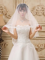Elegant One-tier Cathedral Wedding Veil With Lace Applique Edge