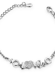 Pure Women's 925 Silver-Plated High Quality Handwork Elegant Bracelet