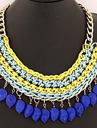 богемной этнических капли темперамент создание ожерелье простой ручной работы (больше цветов)