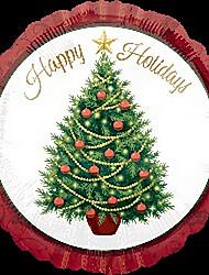 Natale palloncini albero metallici