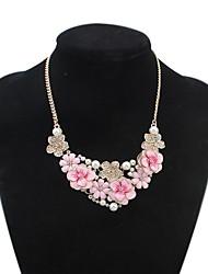 luxueuse fleurs perles pôle dossard collier déclaration des femmes