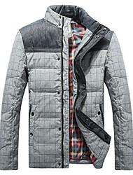 Men's Stitching Color Cotton Coat