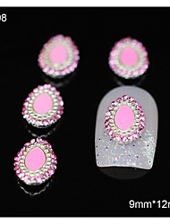 10pcs accesorios de aleación de diamantes de imitación de color rosa yema de los dedos 3d decoración del arte del clavo