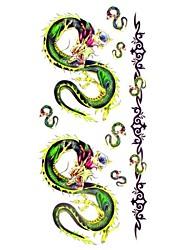 1pc Lovely Dragon Bracelet Waterproof Body Art Tattoo Pattern Temporary Tattoo Sticker(18.5cm*8.5cm)