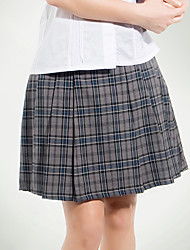 School Uniforms Gray Tattersall Pleated Skirt