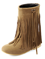 Suede Women's Flat Heel Ankle Boots with Tassel(More Colors)