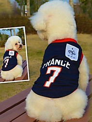 Fashionable France Football Team Pattern Vest for Pet Dogs(Assorted Sizes)