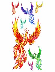 1pc Phoenix Order Animal Series Waterproof Body Art Tattoo Pattern Temporary Tattoos Sticker(18.5cm*8.5cm)