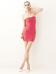 sexy strapless modelagem bodycon vestido curto feminino joannekitten®