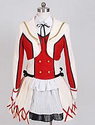 Inspirado por Amor en Vivo Kotori Minami Animé Disfraces de cosplay Trajes Cosplay Bloques Blanco / RojoAbrigo / Camisas / Falda /