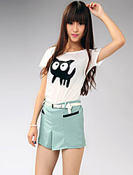 Charming Pockets Hot Sale Straight Shorts Light Blue