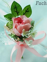 Rose Bud Mini Silk Wedding Boutonniere   (More Colors)