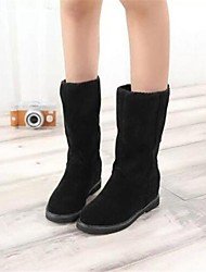 Women's Shoes Fashion Boots Round Toe Low Heel Ankle/Mid-Calf Boots(Two Ways available)