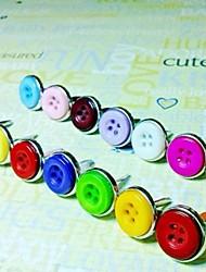 24pcs / couleur Pack bouton d'album clous mélangés