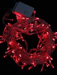 10m 9.6w Weihnachten Flash-100-LED rot Lichtleiste Lichtlampe (eu-Stecker, 220V AC)