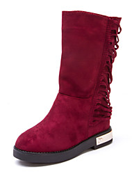Girls' Shoes Comfort Fashion Boots Flat Heel Mid-Calf Boots More Colors available