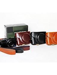 pajiatu® rétro pu huile de cuir caméra peau sac de cas protection couverture pour Sony DCS-rx100ii m2 / RX100 iii m3