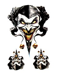 Cool Motorcycle Decoration Sticker Decals-Three-Dimensional Printing Evil Clown