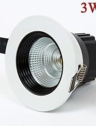 3W 270lm LED COB lumière de la lampe de plafond blanc / blanc chaud led spotlight AC85-265V