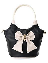 Women's Girls Candy Bowknot Weave Event/Party Handbag Totes