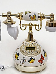 Butterfly Style Retro Ceramic Home Decor Telephone with ID Display