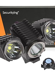 Securitylng® 4-Mode 3 Cree XM-L2 LED Bicycle Light(2400LM  4×18650 Black)