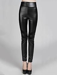 sagetech @ BODYCON elástica calças de couro fino das mulheres (mais cores)