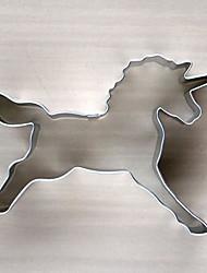 eenhoorn vorm cookie cutter, l 8.4cm XW 5,7cm xh 2cm, roestvrij staal