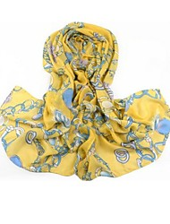 SUIDE Women's In The Spring And Autumn Winter New Scarves Ms Han Edition Velvet Chiffon Long Scarf Big Shawl 120 Yellow