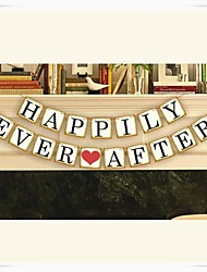 "Wedding Décor ""HAPPILY EVER AFTER"" Popular Vintage  Banner Garlands Party Decor"