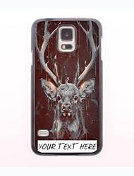 caja del teléfono personalizado - caso del diseño del metal de los ciervos para el mini samsung galaxy s5