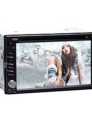 4.2.2 6.2 '' reproductores de DVD del coche alegre androide 2 din para Nissan universal, con gps, bt, rds, wifi, ipod, pantalla táctil capacitiva