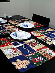 Cotton/Linen Christmas Placemat,33*46cm(13*18.4inch)