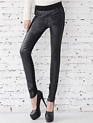 Women's Casual Low Waist Elastic Stitching Skinny with Velvet Jeans