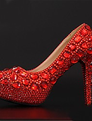 Women's Wedding Shoes Heels/Platform/Round Toe Heels Wedding Red