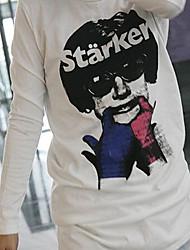 moda estilo hip hop moda em torno do pescoço t-shirt branca