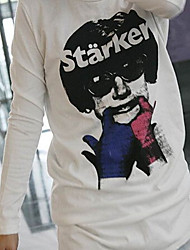 moda t-shirt bianca girocollo stile hip hop moda