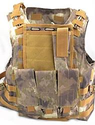 Brown Camo nylon molle combate militar tático exército paintball colete