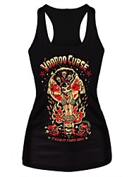 Gothic Voodoo Curse Tank Top Dress Night Club Sexy Uniform