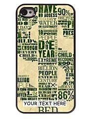 personalizzato del telefono caso - caso del metallo di disegno dollaro per il iphone 4 / 4s