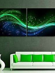 e-Home® allungato ha effetto tela leggera stampe d'arte e ombra flash LED set di 2